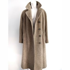 Vintage wool and mohair button down coat
